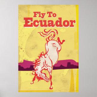 Poster das viagens vintage de Equador