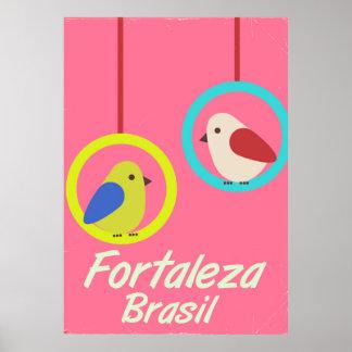 Poster das viagens vintage de Fortaleza Brasil