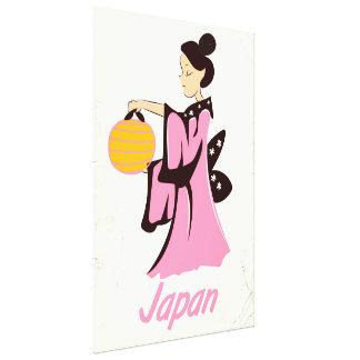Poster das viagens vintage de Japão da menina de