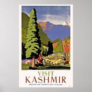 Poster das viagens vintage de Kashmir India   da v