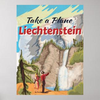 Poster das viagens vintage de Liechtenstein