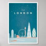 Poster das viagens vintage de Londres