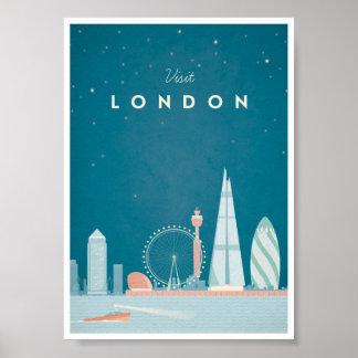 Poster das viagens vintage de Londres Pôster