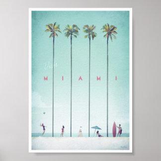 Poster das viagens vintage de Miami