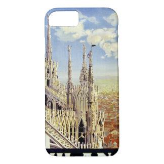Poster das viagens vintage de Milão Italia Capa iPhone 8/7