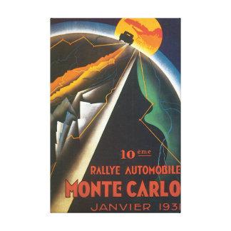 Poster das viagens vintage de Monaco do automóvel