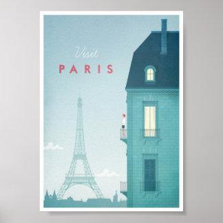 Poster das viagens vintage de Paris