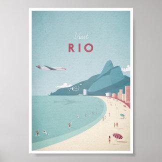 Poster das viagens vintage de Rio Pôster