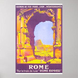 Poster das viagens vintage de Roma Pôster