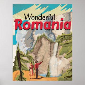 Poster das viagens vintage de Romania