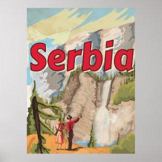 Poster das viagens vintage de Serbia