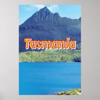 Poster das viagens vintage de Tasmânia