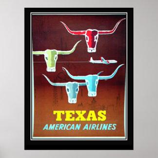 Poster das viagens vintage de Texas