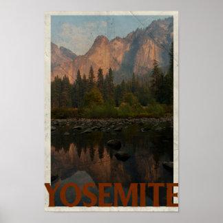 Poster das viagens vintage de Yosemite