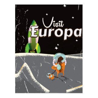 Poster das viagens vintage do Europa Cartão Postal