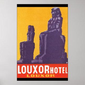 Poster das viagens vintage do hotel de Louxor Pôster