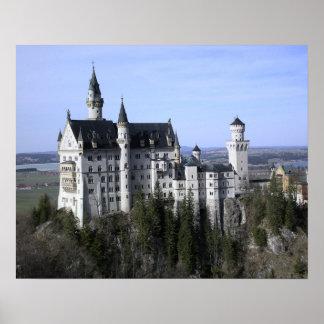 Poster de Alemanha do castelo de Neuschwanstein