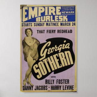 Poster de Burlesk Geórgia Sothern do império