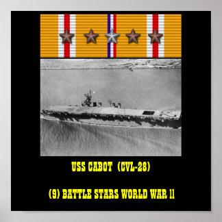 POSTER DE CABOT DE USS (CVL-28)