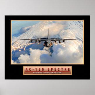 """Poster de """"espectro"""" 24x18 do avião militar AC-130"""