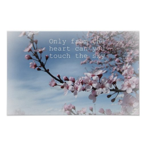 Poster de florescência da árvore da flor de