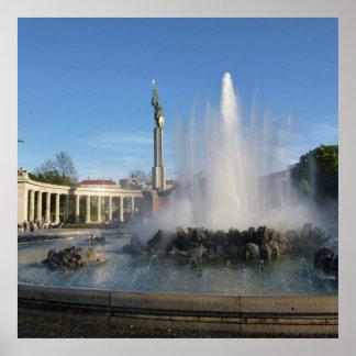 """Poster de fotografia Viena """"monumento de herói do"""