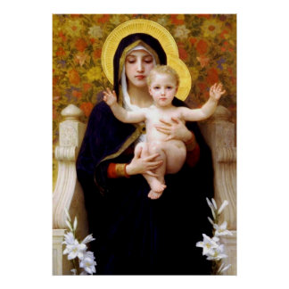 Poster de Jesus de Mary & de bebê Pôster