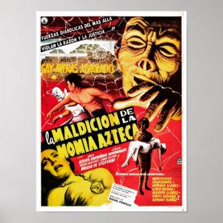 Poster de La Maldicion De La Momia Azteca