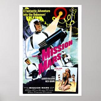 Poster de Marte da missão