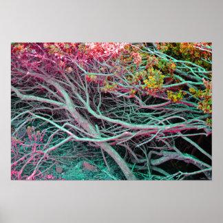 "Poster de néon da natureza (19"" x 13"")"
