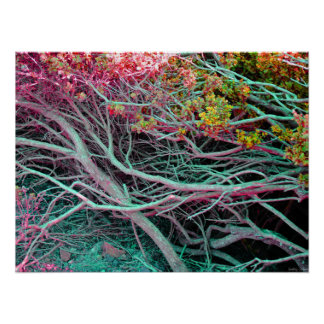 "Poster de néon da natureza (24"" x 18"")"