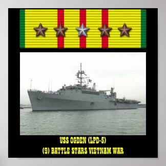 POSTER DE OGDEN DE USS (LPD-5)