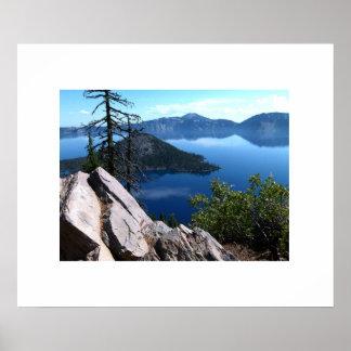 Poster de Oregon do lago crater