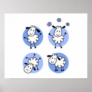 Poster de papel novo na loja: com carneiros pôster