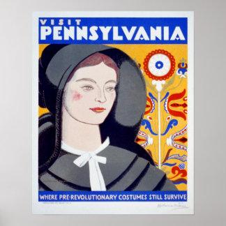 Poster de Pensilvânia da visita das viagens Pôster