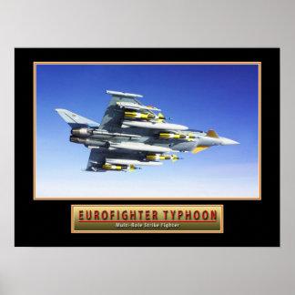 """Poster de """"tufão"""" 24x do avião militar Eurofighter Pôster"""