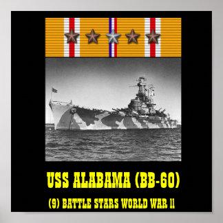 POSTER DE USS ALABAMA (BB-60)
