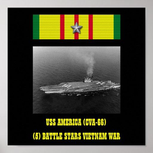 POSTER DE USS AMÉRICA (CVA-66)