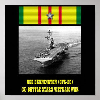 POSTER DE USS BENNINGTON (CVS-20)