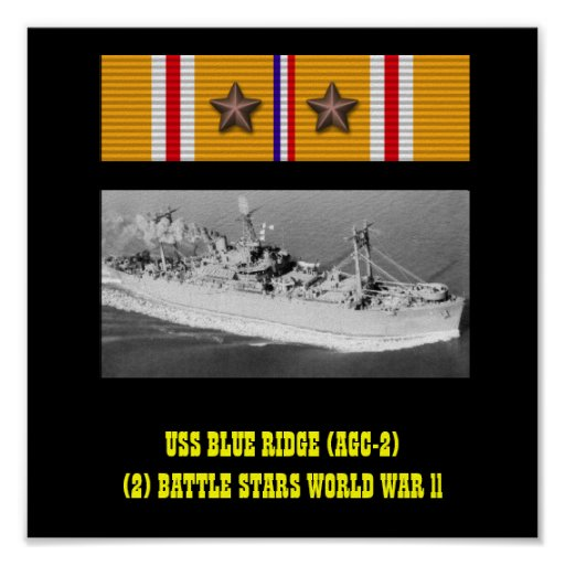 POSTER DE USS BLUE RIDGE (AGC-2)