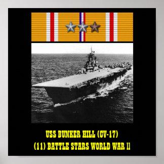 POSTER DE USS BUNKER HILL CV-17