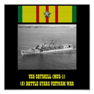 POSTER DE USS CATSKILL (MCS-1)