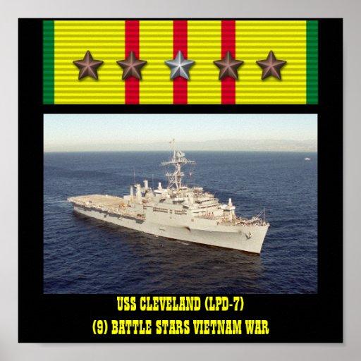 POSTER DE USS CLEVELAND (LPD-7)