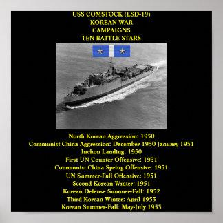 POSTER DE USS COMSTOCK (LSD-19)