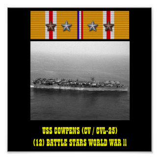 POSTER DE USS COWPENS (CV/CVL-25)