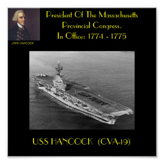 POSTER DE USS HANCOCK (CVA-19)