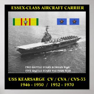 POSTER DE USS KEARSARGE (CV/CVA/CVS-33)