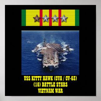 POSTER DE USS KITTY HAWK (CVA/CV-63)