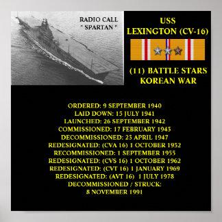 POSTER DE USS LEXINGTON CV-16