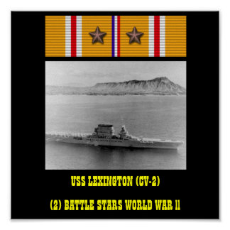 POSTER DE USS LEXINGTON (CV-2)